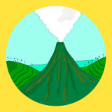 Round volcano design Royalty Free Stock Image