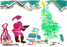 Colorful illustrations  of Santa claus royalty free illustration