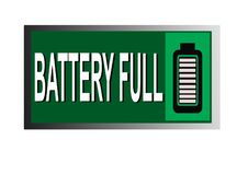Colorful battery full image button web icon vector illustration