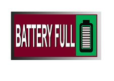 Colorful battery full image button web icon stock illustration