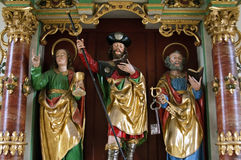 Colorful image of James the Greater in Swiss Camino Royalty Free Stock Photography