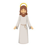 Colorful image with jesus with open hands Royalty Free Stock Image