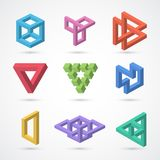 Colorful impossible shapes. Vector elements Royalty Free Stock Photo
