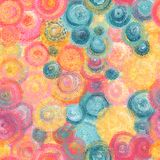 Colorful Impressionist style seamless pattern. Hand drawn oil painting background stock images