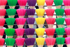 Colorful incense Stock Photography