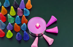 Colorful incense Stock Images