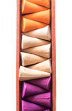 Colorful incense cones Royalty Free Stock Photos