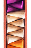Colorful incense cones Stock Image