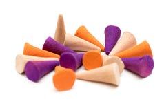 Colorful incense cones Stock Photo