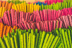 Colorful of the incense stick, Royalty Free Stock Photo