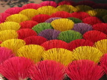 Colorful incense sticks Stock Image