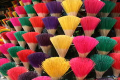 Colorful incense sticks Stock Photo