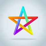 Colorful Inconceivable Pentagram. Royalty Free Stock Photography