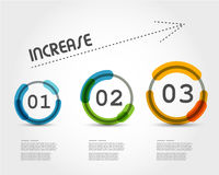 Colorful increase infographic Stock Images