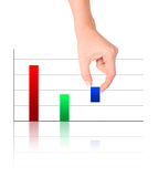 Colorful increasing bar graph Royalty Free Stock Photography