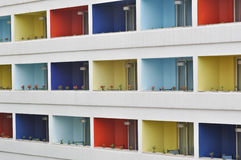 Colorful Indian Apartments Royalty Free Stock Images