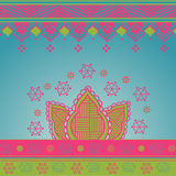 Colorful Indian background Stock Photo