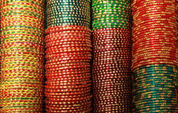Colorful Indian bangles Royalty Free Stock Images