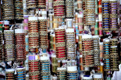 Colorful indian bangles Royalty Free Stock Photos
