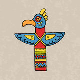Colorful indian bird totem Royalty Free Stock Images