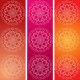 Colorful Indian elephant mandala banners Royalty Free Stock Images