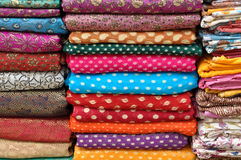 Colorful Indian Fabric Royalty Free Stock Images
