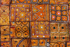 Colorful indian fabric textile. India Royalty Free Stock Photos