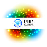 Colorful indian flag design Royalty Free Stock Photography