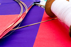 Colorful Indian kites and string Royalty Free Stock Photo
