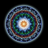 Colorful Indian Lotus Mandala Design Royalty Free Stock Image
