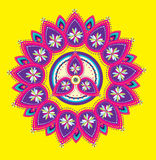 Colorful Indian pattern. Design style Royalty Free Stock Photo