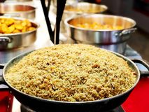 A colorful Indian rice dish made from basmati rices spices and fresh vegetables.  Stock Photography