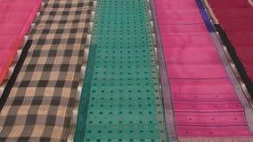 Colorful indian sari silk background Stock Photography