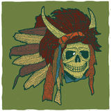 Colorful Indian Skull Mask Poster Royalty Free Stock Photography