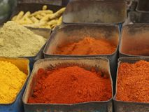 colorful Indian spices Royalty Free Stock Images