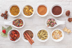 Colorful Indian spices stock photography