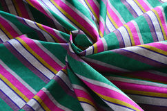 Colorful Indian striped fabric Royalty Free Stock Images