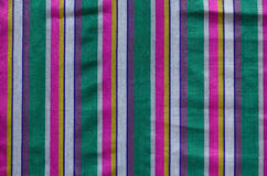 Colorful Indian striped material background Royalty Free Stock Photos