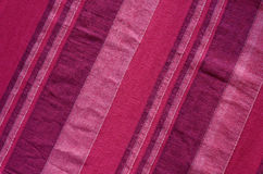 Colorful Indian striped material background Royalty Free Stock Images