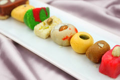 Colorful Indian sweets Stock Image