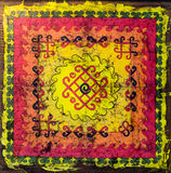 Colorful Indian Tapestry Rug Stock Photography
