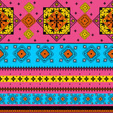 Colorful Indian tribal seamless pattern Stock Images