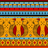 Colorful Indian tribal seamless pattern. In vector Royalty Free Stock Photography