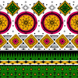 Colorful Indian tribal seamless pattern. In vector Stock Image