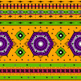 Colorful Indian tribal seamless pattern. In vector Royalty Free Stock Photo