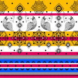 Colorful Indian tribal seamless pattern. In vector Stock Images