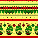 Colorful Indian tribal seamless pattern. In vector Royalty Free Stock Photos