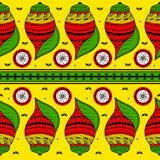 Colorful Indian tribal seamless pattern. In vector Royalty Free Stock Image
