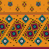 Colorful Indian tribal seamless pattern. In vector Stock Photos