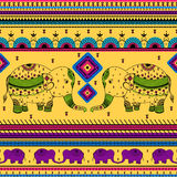 Colorful Indian tribal seamless pattern Stock Photo